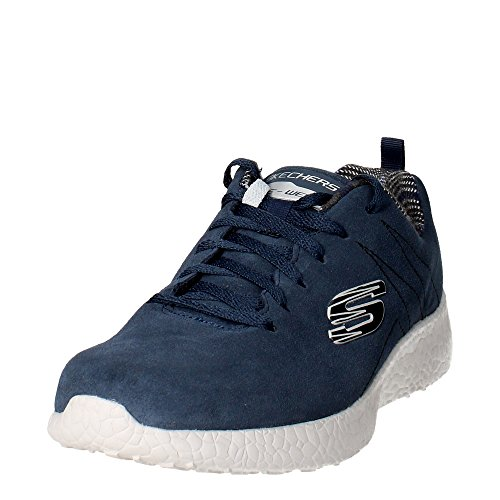 Scarpe sportive per uomo Skechers Sport Burst Koopy in camoscio nero Blue