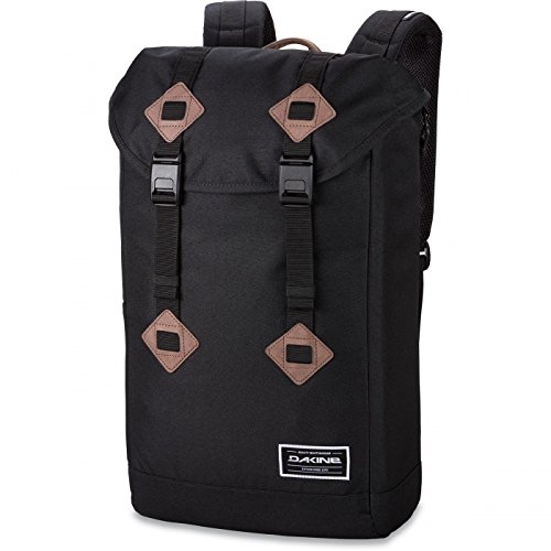 Dakine Trek II Polyester schwarz Rucksack–Rucksäcke (Polyester, schwarz, monoton, 600D, Seitentasche, Magnetic Buckle, Kabel) (Trek-kabel)