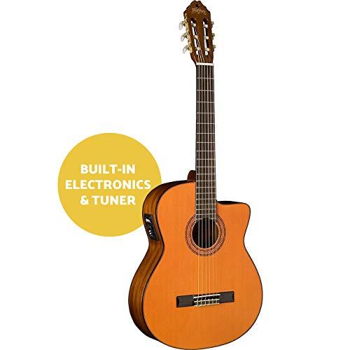 washburn c5ce-a chitarra elettroacustica a spalla mancante, serie classica
