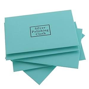 Hellery 5 Stücke Schmuck Poliertuch Für Goldschmuck Putztuch Reinigungstuch Schmuck Reinigen Pflegen Polieren