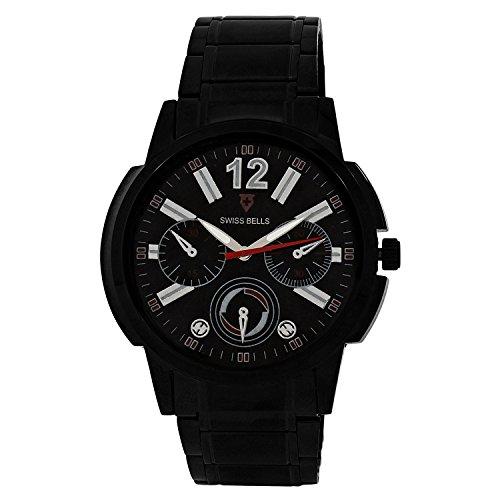 Svviss Bells Svviss Bells Mesmerizing Black Steel Watch