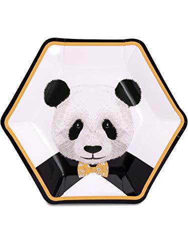 Générique 8 Assiettes Panda TROP Mignon 23 CM