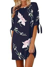 Vestido floral del partido del coctel de las mangas del Bowknot de la impresión