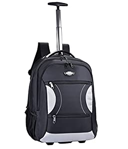 Wheeled Backpacks,Coofit Trolley Backpack Nylon Rolling Backpack with Wheels for Travel