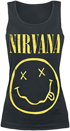 Nirvana Smiley Top Mujer Negro M