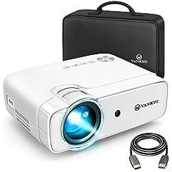 Mini Vidéo Projecteur, Vankyo 1280*720P Full HD Rétroprojecteur 5000 Lumens, Multimédia Cinéma Maison Vidéoprojecteur LED Portable, HDMI/VGA/AV/TF/USB Compatible avec TV Box/PS4/Smartphone