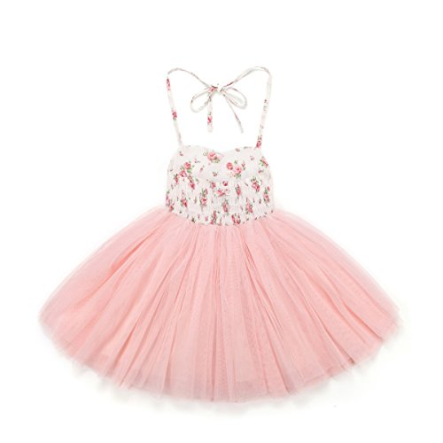 a348e077a Flofallzique Pink Tutu Girls Dress Tulle Birthday Wedding Party Dress  Special Occasion Dress