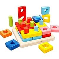 QXMEI Jouet, éducation Précoce, Bébé Forme De l enfant Intelligence Forme  Appariement Géométrie 4870a44cdac2