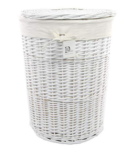DVier  Wäschekorb, Weide, Weiß, D.46 H.62, 1 Einheiten