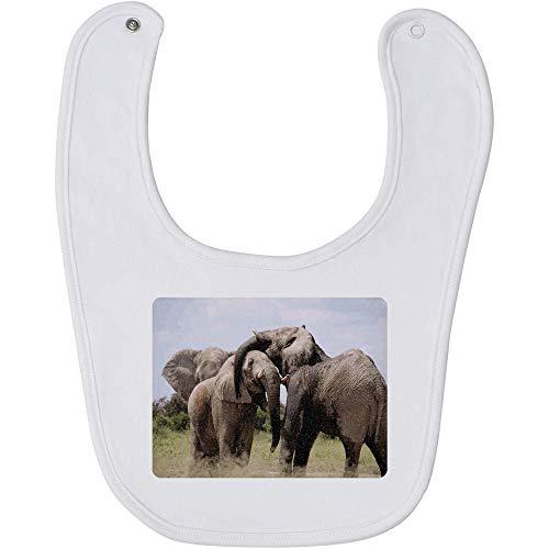 Azeeda 'Elefantes' Bebé Babero (BI00003203)