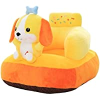 Hello Baby Kids Sofa Soft Plush Cushion Baby Sofa Seat Or Rocking Chair for Kids - 08 to 36 Months (Beige)