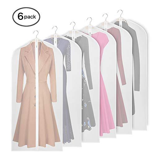 KEEGH Kleidungsüberzugstasche Anzugtasche zur Aufbewahrung, Mottenschutz, faltbar, waschbar, klar Kleidersäcke für Tanzkostüme Anzüge Kleider Mäntel (60x152 cm)