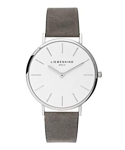 LIEBESKIND BERLIN Unisex Erwachsene Analog Quarz Uhr mit Leder Armband LT-0158-LQ