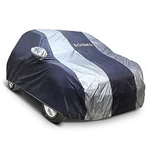 Amazon Brand - Solimo Hyundai Eon Water Resistant Car Cover (Dark Blue & Silver)