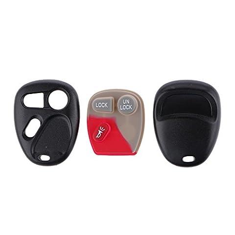 Gazechimp Ersatz Fernschlüsselfob Clicker Englisch 3 Taste Schlüsseletui Für 2001 Chevrolet Tahoe