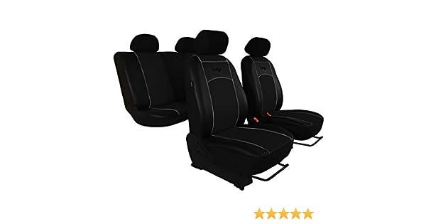 Premium Kunstleder Sitzbezüge Sitzbezug Schonbezüge für Daewoo Matiz Grau Set