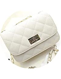 2e4f68262 White Island Bolso de mensajero para mujer de piel sintética, diseño de marcas  famosas, bolsa de lujo clásica…