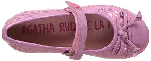 Agatha Ruiz De La Prada Mädchen 172971 Mary Jane Halbschuhe Pink (Rosa Y Estampado Corazones)