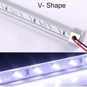 LED de haute qualité rigide bande de lumière 50cm 12V 36 SMD 7020 V Blanc Forme - White