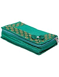Kuber Industries™ Designer Jewellery Kit in Heavy Quilted Material (Green)
