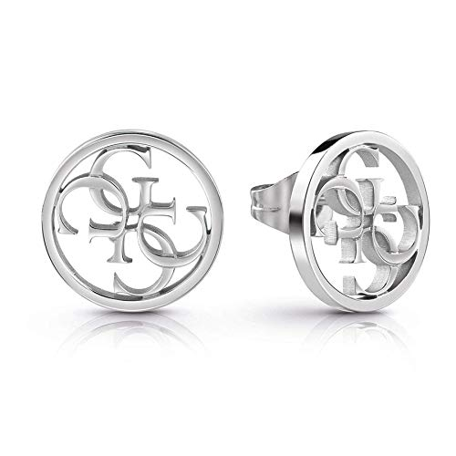 Guess Pendientes botón Mujer chapado plata - UBE28073