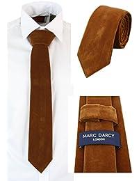 Marc Darcy Cravatta Classica da Uomo in Tweed o in Velluto Retro Vintage ab2cbe4df84