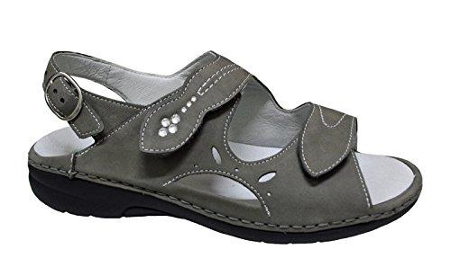 Waldläufer sandalo delle signore Gunna 204018-191-088 pietra gray grau