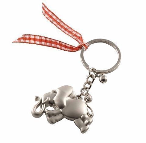 Lucky elephant-porte-clés argent mat