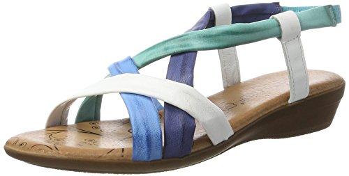 Andrea Conti Damen 0143401 Sandalen Mehrfarbig (dunkelblau/kombiniert)