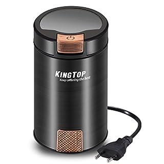 KingTop Elektrische Kaffeemühle Schlagmesser Kräftige 200 Watt zum mahlen Kaffeebohnen Kräutern Nüsse Gewürze Getreide