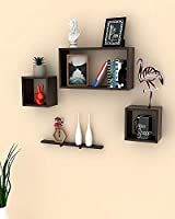 Wall shelves unit is the ultimate stylish yet functional piece for your living space. Decorative floating shelf is functional and attractive alike. It suits almost every decor and is great for your kitchen, dining room, living room or office. Use it ...