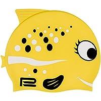 Gorro de natación para niños con diseño de pez en muchos colores y motivos, amarillo