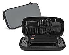 Nintendo Switch Custodia Hltd Custodia protettiva Hard Portable Travel Zip Custodia Custodia Shell con Supporti da Gioco e 8 Slot Card (Nero)