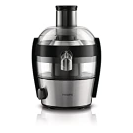 Philips HR1836/00 Centrifuga per Frutta e Verdura dal Design Compatto, con QuickClean Pulisci Facile Viva Collection, 1,5 Litri, 500 Watt