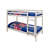 2ft6 Shorty Childrens Bunk Bed in White with 2 Standard Mattresses Zara