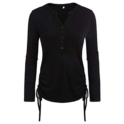 TWIFER Women Tee Top Blouse T Shirt Pullover Long Sleeve Sweatshirt Knitted Ladies Casual Solid Soft Nightwear Outerwear Tennis Skydiving Leggings Lingerie Underwear