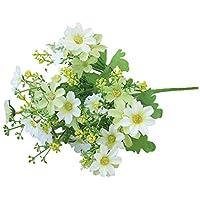 Amesii 1 Bouquet 28 Heads Artificial Fake Cute Daisy Flower Home Wedding Garden Decor - White