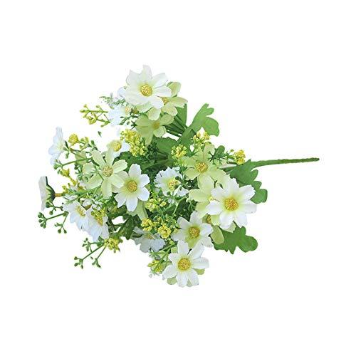 Amesii 1bouquet 28capi artificiale falso cute daisy flower home wedding garden decor white