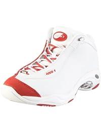 and 1–Tai Chi Mid–Zapatillas Baloncesto–Blanco/Negro–d171mwwm–42,5EU