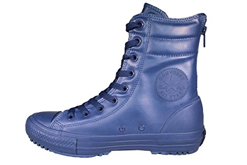 Converse stivali di pelle blu 549590C delle Mandrini donne CT AS Hi-Rise Boot Rubber Nightimee Navy Nighttime Navy