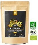 Holi Natural® Premium BIO Psyllium in polvere. 500g - Semi di Plantago Ovata biologico certificato - 99% purezza- Psyllium indiano di alta qualità - Vegano, senza glutine e senza additivi.