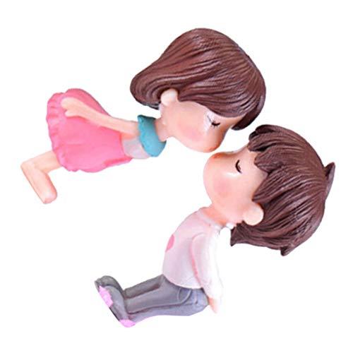 Busirde PVC-Braut und Bräutigam Miniatures Dekoration Ehe Liebhaber Hochzeit Puppe Paar-Kuss Figurinen Garden Ornament vorschlagen