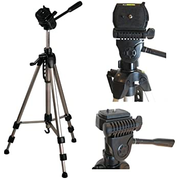 """Ex-Pro TR-550A Professional Photographic Camcorder Tripod - (530mm - 1450mm / 57"""") Light Weight, Full Geared system, Fluid Pan Head, 3 Section Lock Legs, Spirit Level, Fast Install, Quick Release, High Quality. (Suitable for Nikon Coolpix, Canon, Casio Exilim, Fuji Finepix, Kodak Easyshare, Panasonic Lumix, Olympus, Pentax Optio, Samsung Digimax, Sony Cyber-shot / Alpha & more)"""