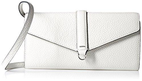 Weiße Clutch Wallet (Ecco Damen Isan Clutch Wallet Geldbörse, Weiß (White), 2,5 x 11 x 21 cm)