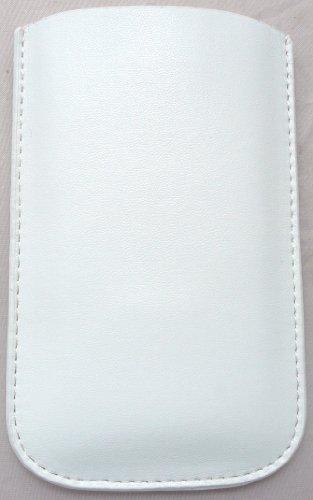 Emartbuy Weiße Tasche / Case / Sleeve / Halter (Groß) Mit Pull Tab Mechanismus Geeignet Für Apple Ipod Touch 4 (4. Generation) + Lcd Screen Protector -