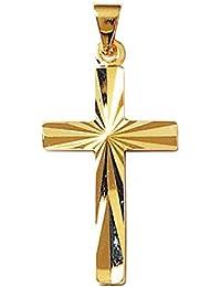 67b4a230d57a So Chic Bijoux © Pendentif Croix Christ Jésus Crucifix Facettes Plaqué ...
