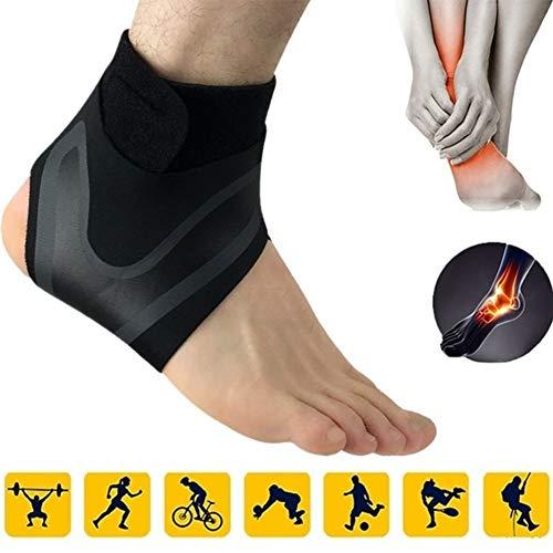 Parkomm Sprunggelenkbandage, Atmungsaktive Knöchelbandage für Männer und Frauen, Elastische Fußgelenkbandage für den Sportschutz, Erholung