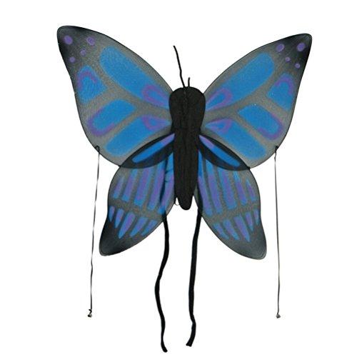 BESTOYARD Kinder Engelsflügel Stoff Baby Mädchen Schmetterlingsflügel Kleine Glocke Polychromatische Siebdruck Prozess Artware Mädchen Halloween Cosplay Kostüm (Blau)