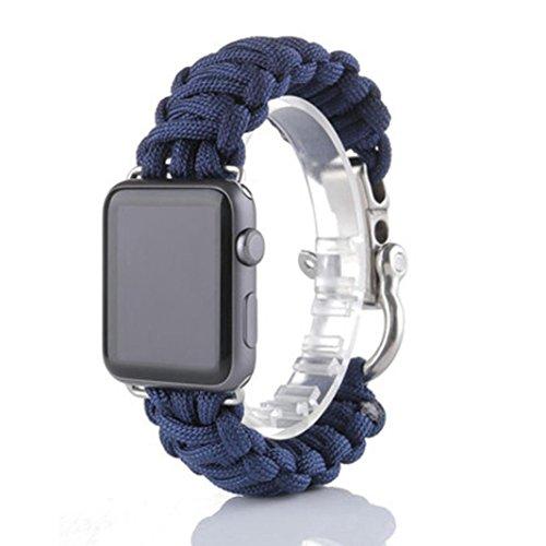 Jaminy NEUES Sport-Nylonseil-Überlebens-Armband-Uhrenarmband für Apple-Uhr-Reihe 3 38MM (I) (Diesel Womens Neue)