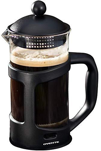 French Press Coffee Tea & Espresso Maker, Black, 34oz, 1 Liter Glass Teapot Le Teapot